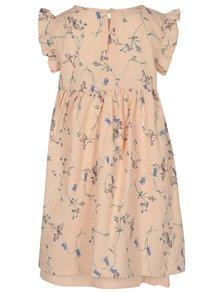 Svetloružové dievčenské kvetované šaty name it Valaia