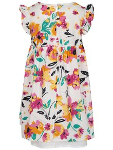 Ružovo-biele dievčenské šaty s kvetmi name it Valaia