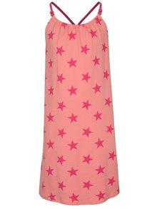 Ružové dievčenské vzorované šaty name it Zathrine