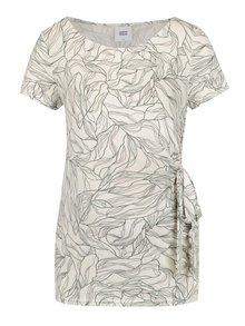 Krémové tehotenské vzorované tričko Mama.licious Maggi