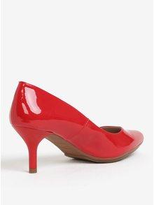 Pantofi rosii de lac cu varf ascutit si toc inalt - OJJU