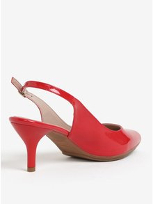 Pantofi slingback rosii de lac cu toc inalt - OJJU