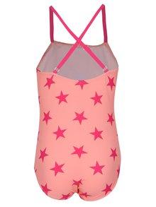 Růžové holčičí vzorované jednodílné plavky name it Zu Jingle