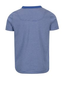 Tmavomodré chlapčenské pruhované tričko s potlačou Tom Joule Ben