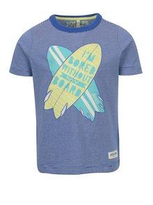 Tmavě modré klučičí pruhované tričko s potiskem Tom Joule Ben
