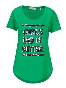 Tricou verde cu model din paiete - Rich & Royal