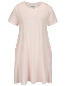 Svetloružové voľné šaty Cheap Monday