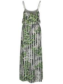 Rochie maxi verde & alb cu print floral si dungi - ONLY Nova