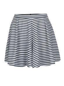 Fusta pantalon alb&albastru in dungi - ONLY Esra