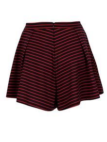 Fusta pantalon albastru&rosu in dungi - ONLY Esra