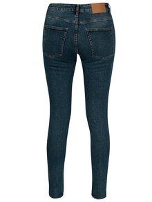 Modré dámské zkrácené skinny džíny s otřepaným efektem Cheap Monday