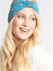 Modrá obojstranná vzorovaná čelenka Blutsgeschwister