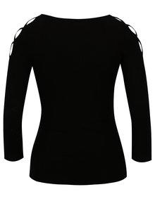 Černé tričko s pásky na ramenou TALLY WEiJL