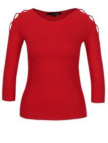 Červené tričko s pásikmi na ramenách TALLY WEiJL