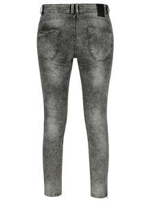 Šedé dámské skinny džíny s vyšisovaným efektem Cars Tippa