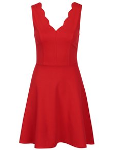 Červené áčkové šaty bez rukávů TALLY WEiJL