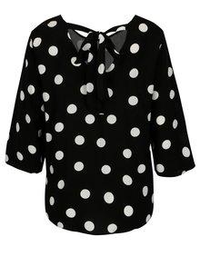 Bluza neagra cu buline si funda la spate - Jacqueline de Yong Victory