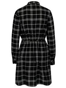 Černo-bílé kostkované košilové šaty TALLY WEiJL