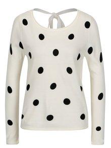 Krémový puntíkovaný svetr s mašlí na zádech Jacqueline de Yong Alice