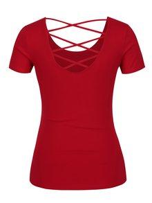 Červené tričko s průstřihem na zádech TALLY WEiJL