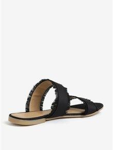 Černé pantofle Pieces Mio