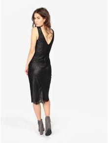 Černé pouzdrové krajkové třpytivé šaty Oasis Stella
