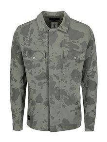 Jacheta gri verzui cu print army pentru barbati - Makia Waypoint