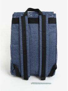 Ruscac albastru cu buzunar pentru laptop 18L - The Pack Society