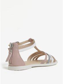 Bílo-růžové holčičí sandálky Geox Karly