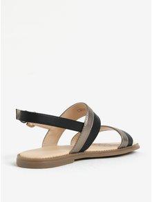 Dievčenské sandáliky v zlato-čiernej farbe Geox Karly
