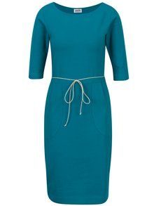 Rochie albastra cu snur in talie - miestni