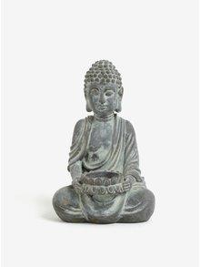 Hnedo-sivý svietnik v tvare Budhu SIFCON