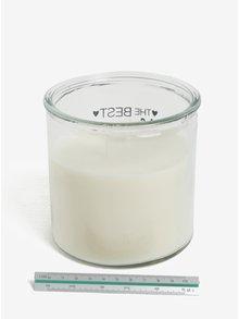 Krémová sviečka v skle s potlačou SIFCON Vzpomínka