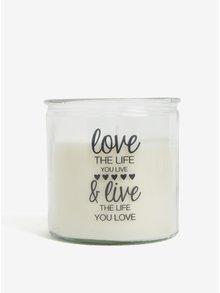 Krémová svíčka ve skle s potiskem SIFCON Láska a život
