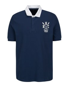 Tricou polo bleumarin cu logo brodat - Hackett London