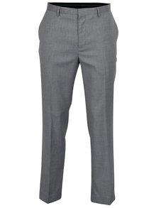 Pantaloni de costum tailored fit gri albastrui - Burton Menswear London