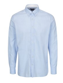 Camasa slim fit bleu cu guler button down - Hackett London Oxford