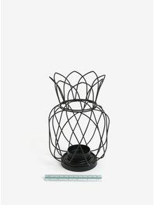 Čierny kovový svietnik v tvare ananásu SIFCON