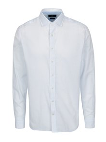 Camasa alba slim fit cu print discret - Hackett London Diddy