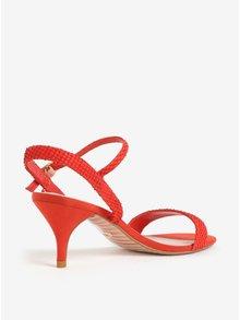 Červené sandálky na jehlovém podpatku Dune London Monnrow