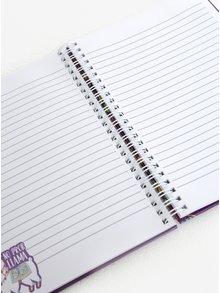 Fialový zápisník s motivem lamy SIFCON