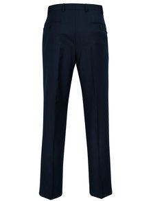 Pantaloni tailored fit bleumarin cu model discret -  Burton Menswear London