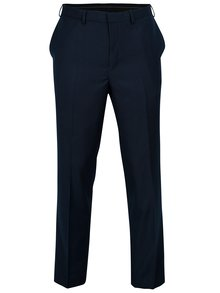 Pantaloni tailored fit bleumarin cu model discret -  Burton Menswear London