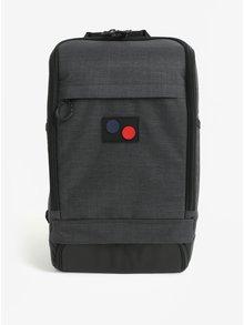 Tmavosivý vodovzdorný batoh z recyklovaného materiálu pinqponq Cubik medium 19 l