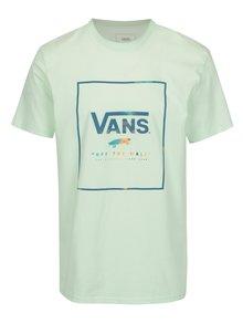 Světle zelené pánské tričko potiskem VANS Box