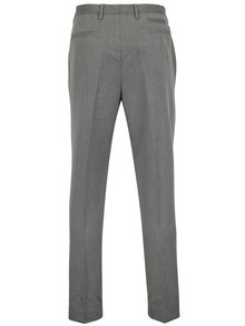 Pantaloni gri tapered fit cu model discret - Burton Menswear London
