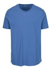 Modré basic regular fit tričko Burton Menswear London