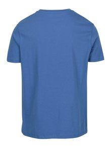 Tricou basic albastru regular fit - Burton Menswear London