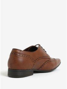 Pantofi brogue maro deschis - Burton Menswear London