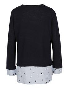 Modrý sveter so všitým košeľovým lemom ONLY Acacia